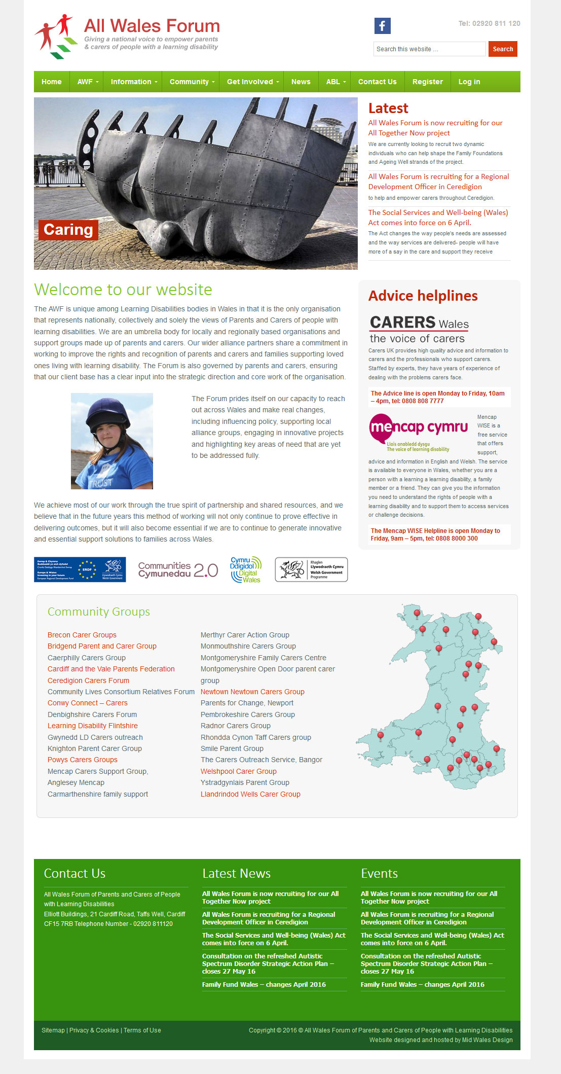 All Wales Forum membership and directory website