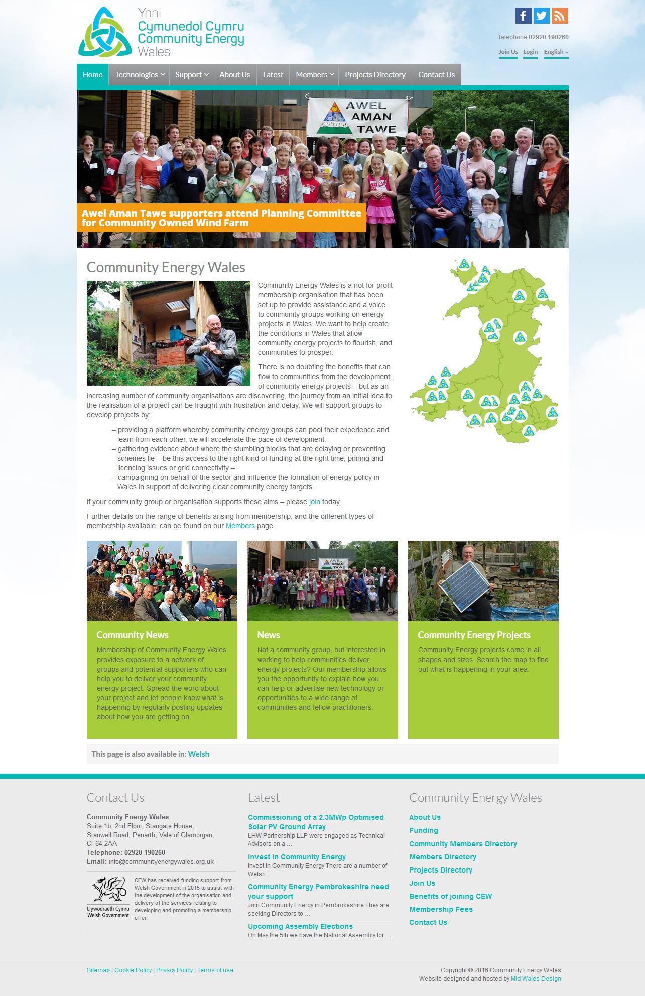 Community Energy Wales website