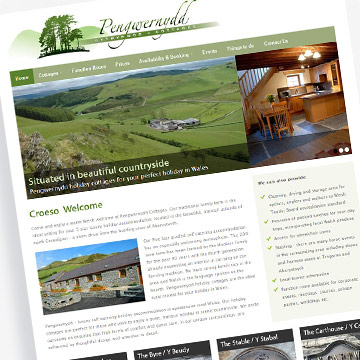Pengwernydd Cottages holiday cottage website