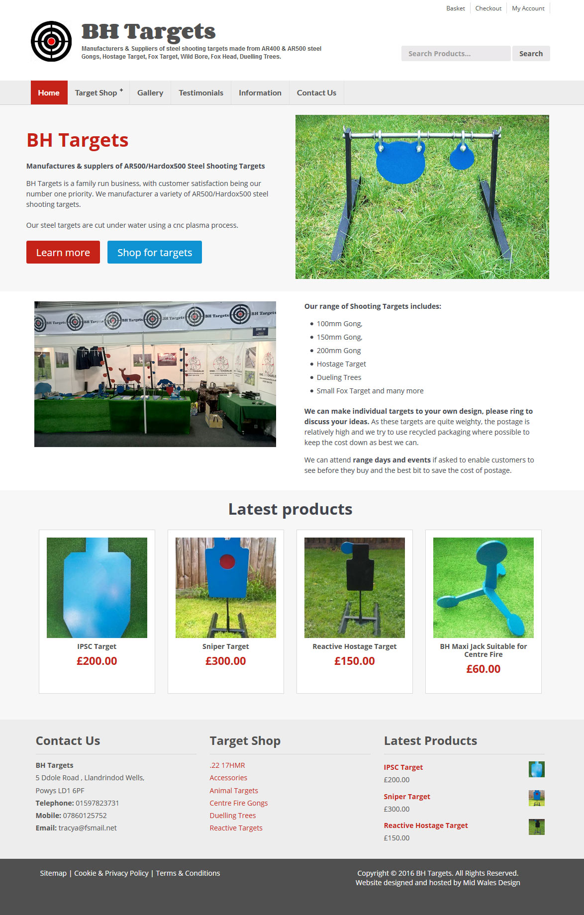 Ecommerce website for company in llandrindod wells, powys