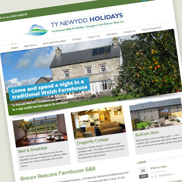 Brecon Beacons Farmhouse B&B and Self Catering Cottage website