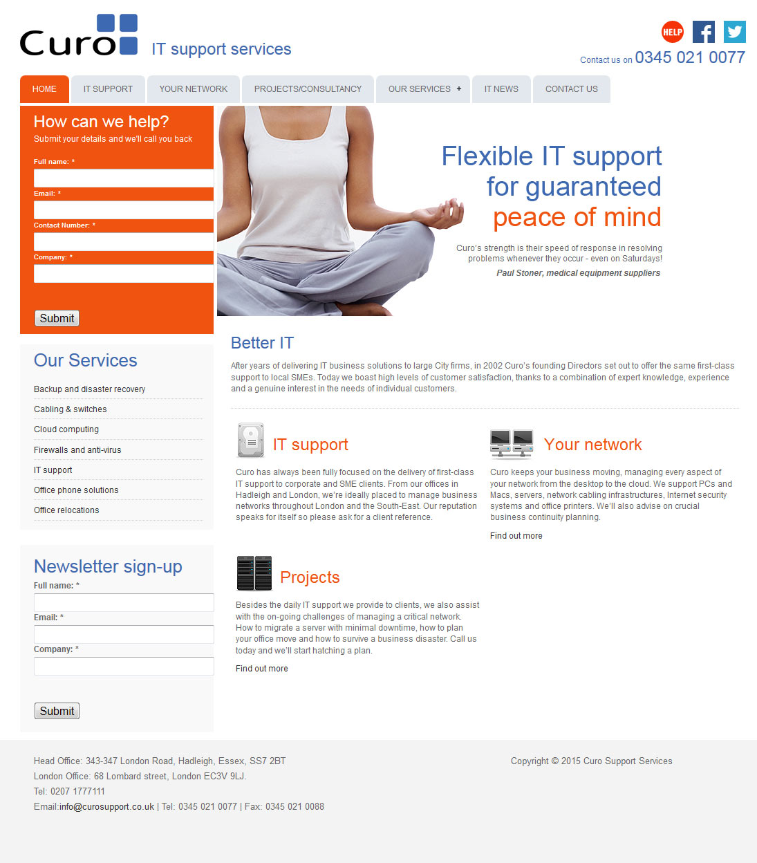 IT Support Services website Essex