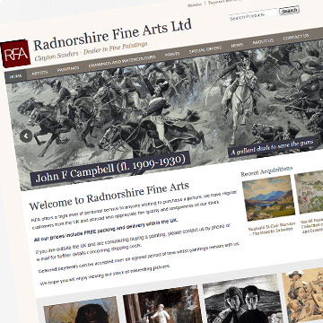 Radnorshire Fine Arts eCommerce website