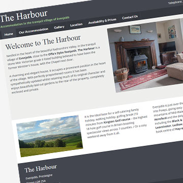 The Harbour self-catering holiday website