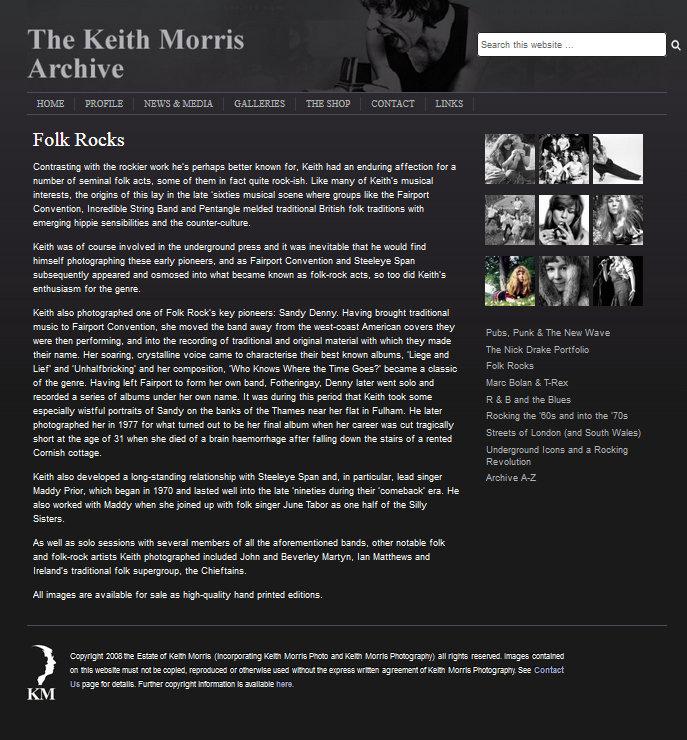 Keith Morris website gallery