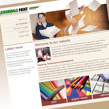 Leisuredale Print website