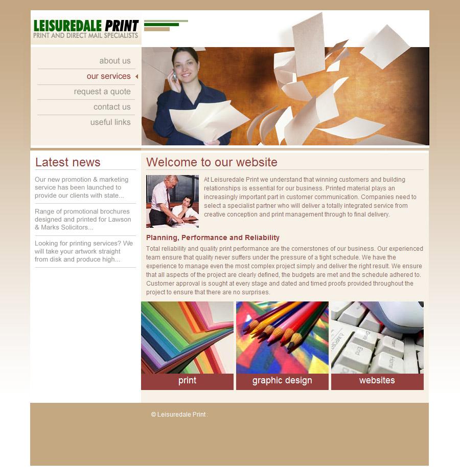 Leisuredale Print website