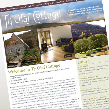 Ty Olaf Cottage website