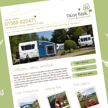 Daisy Bank Campsite website rebuild