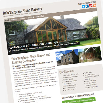 Dale Vaughan Building Contractor website