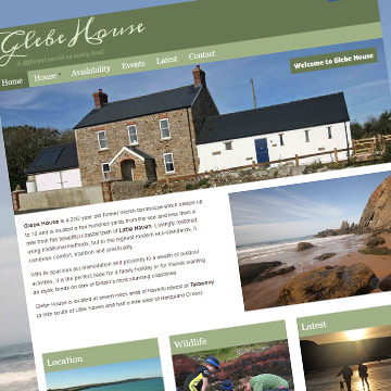 Glebe House holiday cottage website