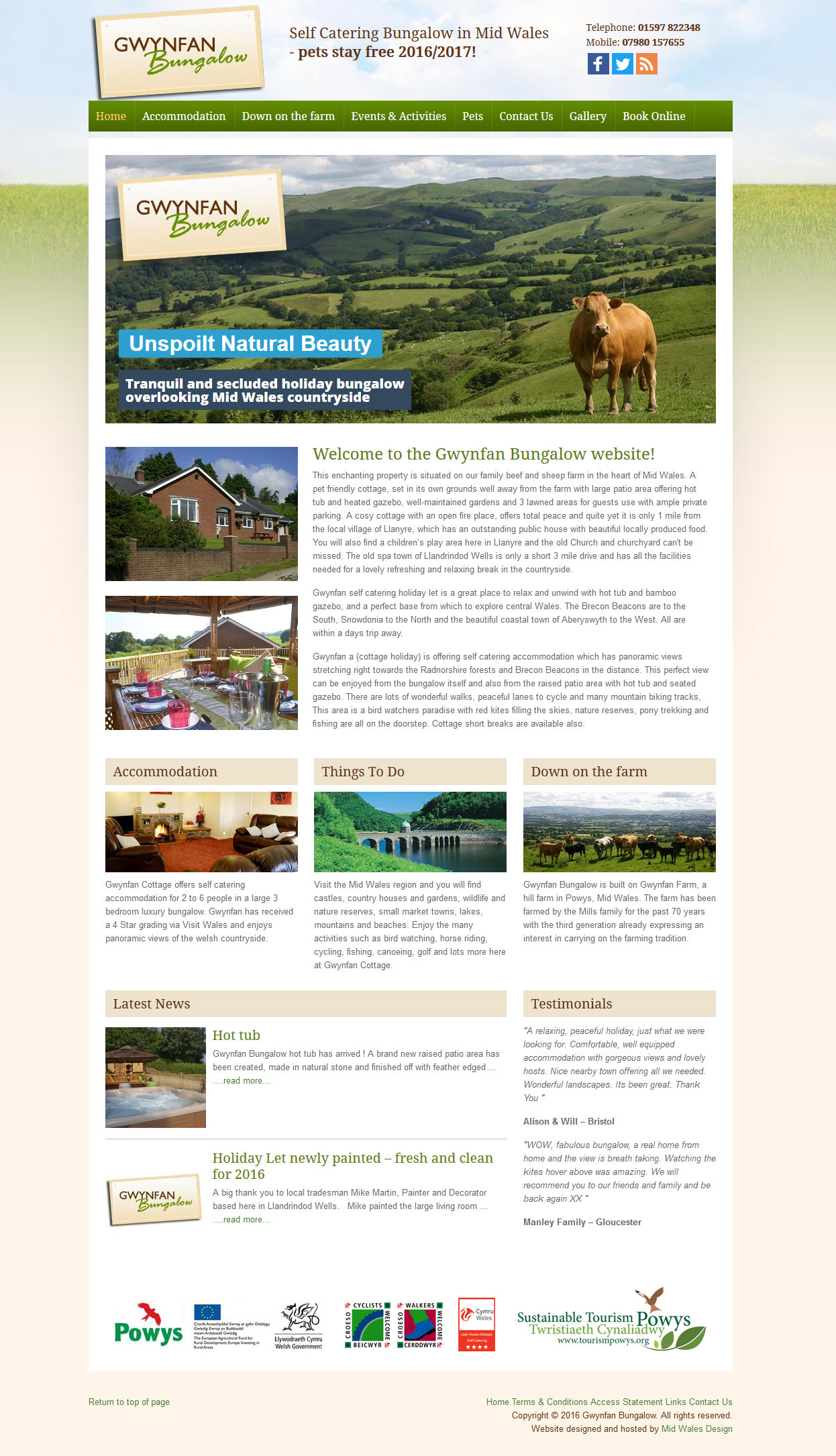 Llandrindod wells tourism website
