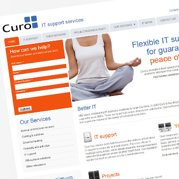 IT Support Services website