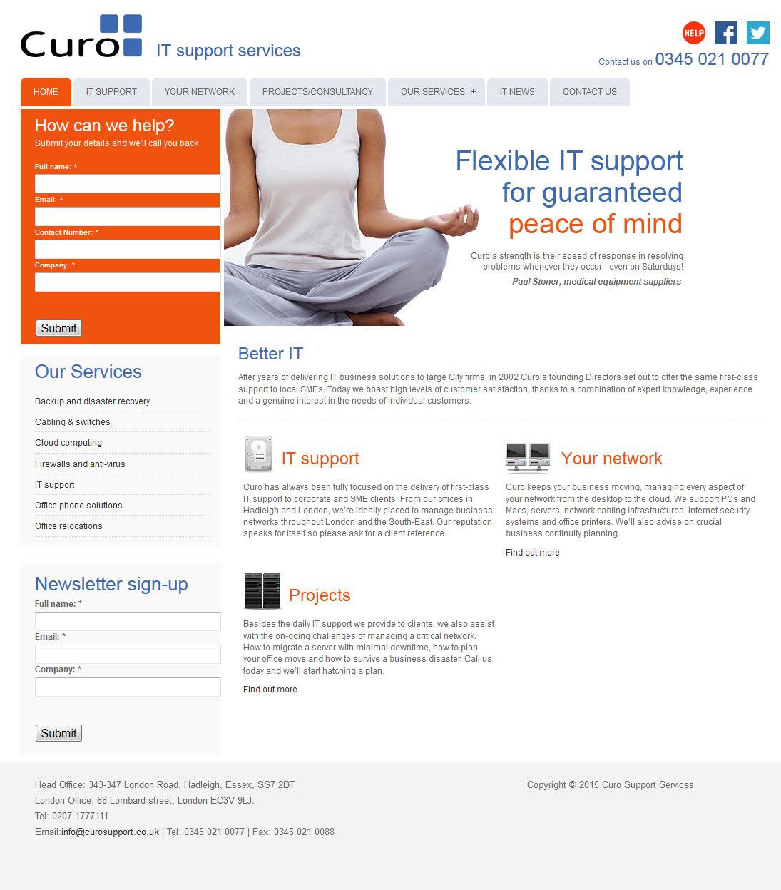IT Support Services website Essex