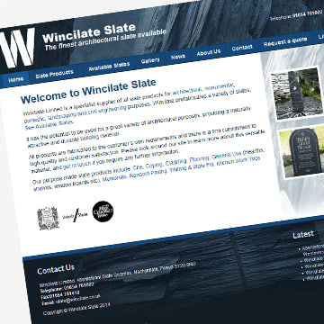 Wincilate Slate Machynlleth responsive website