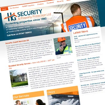 HG Security website