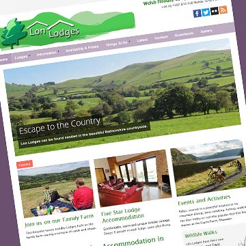Lon Lodges cottages website