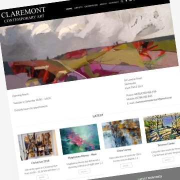 Claremont Contemporary Art gallery website